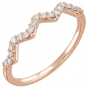 14K Rose CTW Diamond Stackable Ring