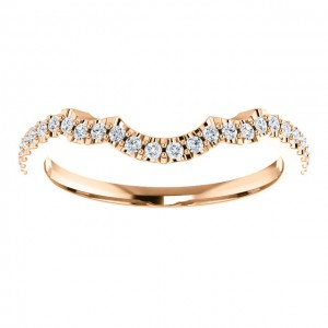 14K Rose Diamond Band-3