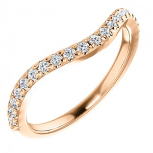 14K Rose Diamond Matching Band