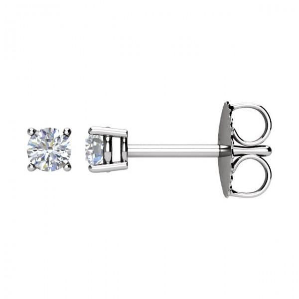 14K White HALF CTW Diamond Earrings