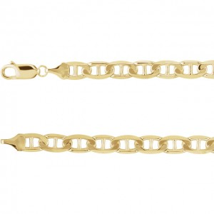 14k Yellow 6mm Anchor Chain