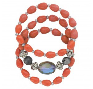 Triple Sunset Strands Bracelet Attitude Jewelry (ABC3466)