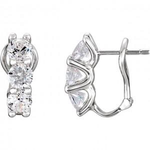 Sterling Silver Cubuc Zirconia Earrings