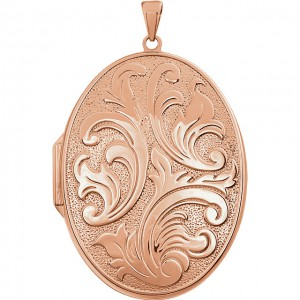 14K Rose Gold-Sterling Silver Locket