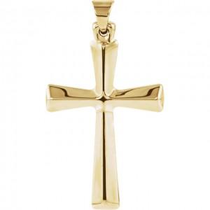 14K Yelloe Cross Pendant