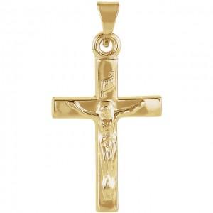 14K Yellow Crucifix Pendant