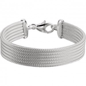 Sterling Silver Foxtail Mesh 7 Bracelet