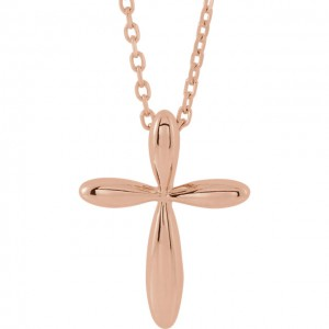 14K Rose Cross