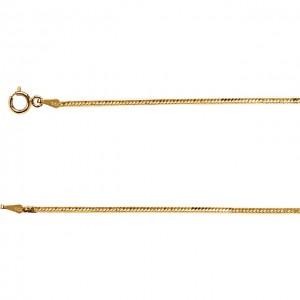 14K Yellow 1.5mm Flexible Herringbone Chain 20 Chain