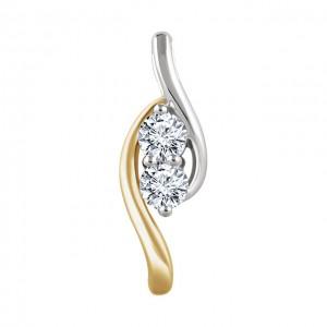 10K White Gold 3.8mm Round Diamond Chain Slide