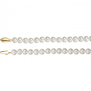 14K Yellow Freshwater Cultured Pearl 18 Necklace