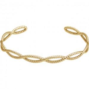 14K Yellow Rope Cuff Bracelet