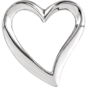 Sterling Silver Heart Chain Slide