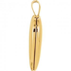 14K Yellow Gold Tapered Designed Heart Locket 2