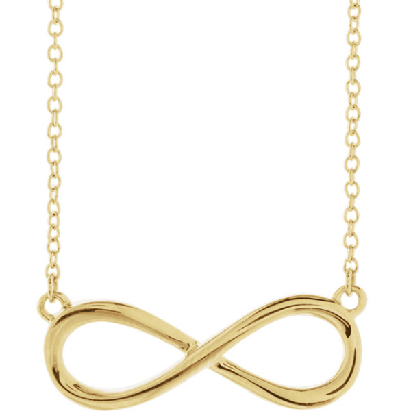 14K Yellow Infinity-Inspired 18 Necklace-2