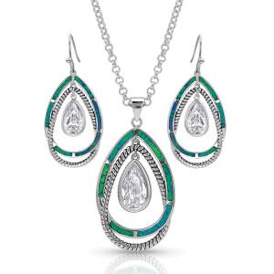 Opal Ribbons Teardrop Jewelry Set